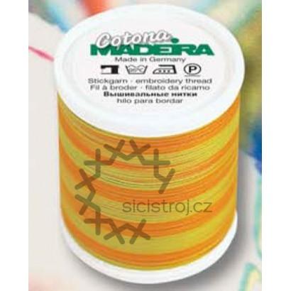 Madeira Cotona 9331- 400m  vyšívací a quiltovací melírovaná  nit