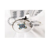 """MINI EMBROIDERY SPRING HOOP  17/13"""" x 17/13"""" (40 x 40 mm)"""