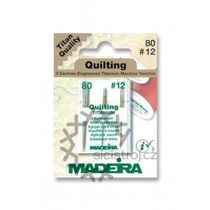 Madeira 9454T - Titanové jehly quiltovací